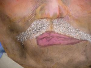 man's mouth