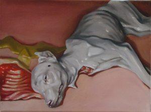 ZIEMKE_-White-dog_-2007-30x