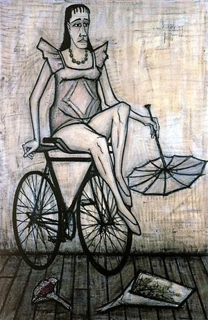 Bernard_Buffet_Le cirque -Acrobate_a_la_bicyclette-1955